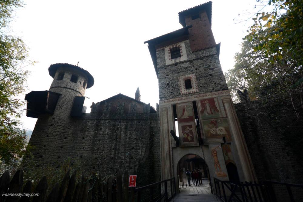 Изображение: Средневековый город в Парко-дель-Валентино в Турине